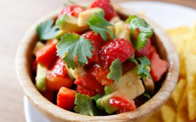 Jordbærsalsa med avokado