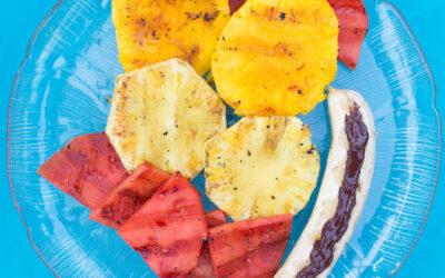Grillet frukt