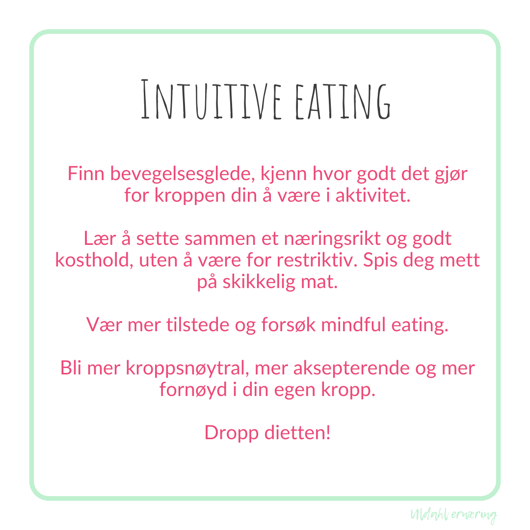 hva er intuitive eating